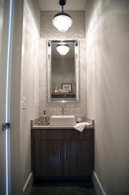 Small Bathroom Ideas on a Budget #modernpowderrooms