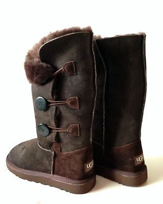 a1cc9d783e2 UGG Australia womens Bailey button triplet boots Brand new 8 Dark ...