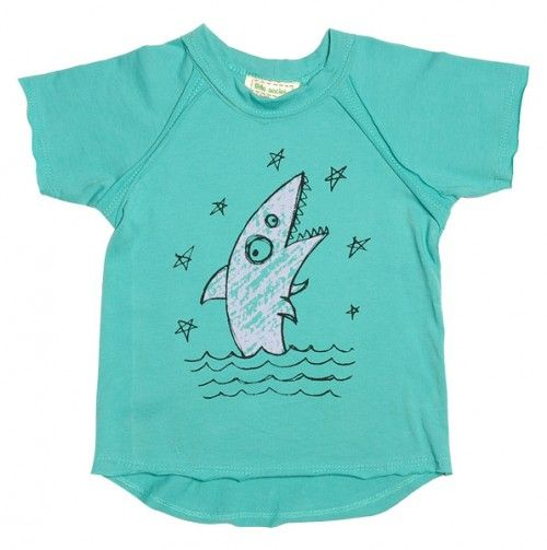 Kids' Shark Tee by Little Society - definitely fun to wear to the beach or on a day you want to be at the beach!