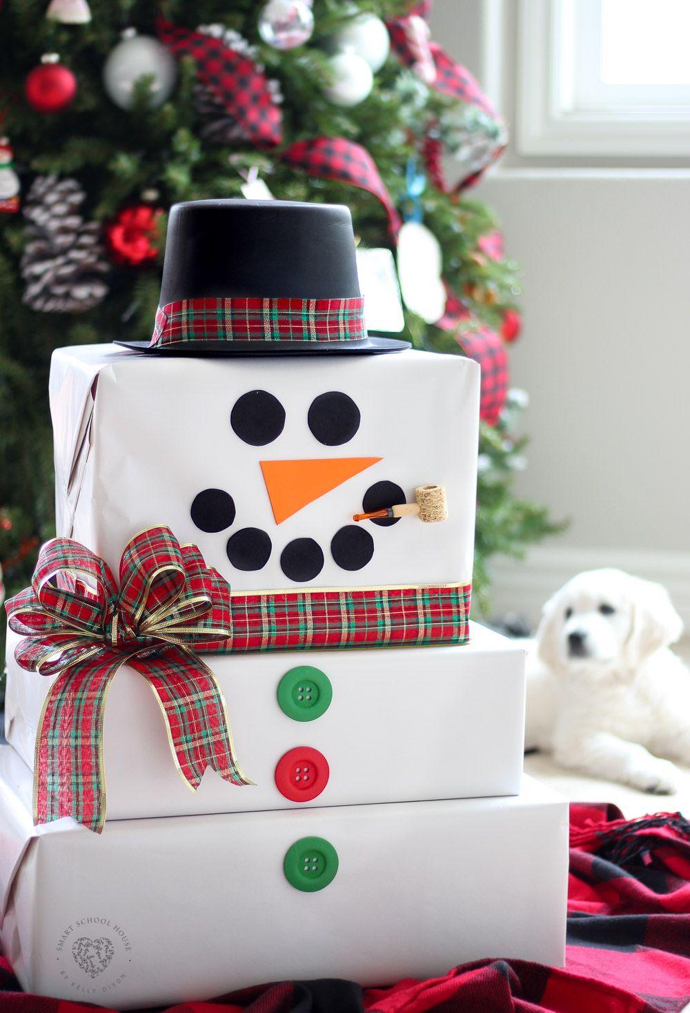 Cardboard box snowman creative christmas gifts diy
