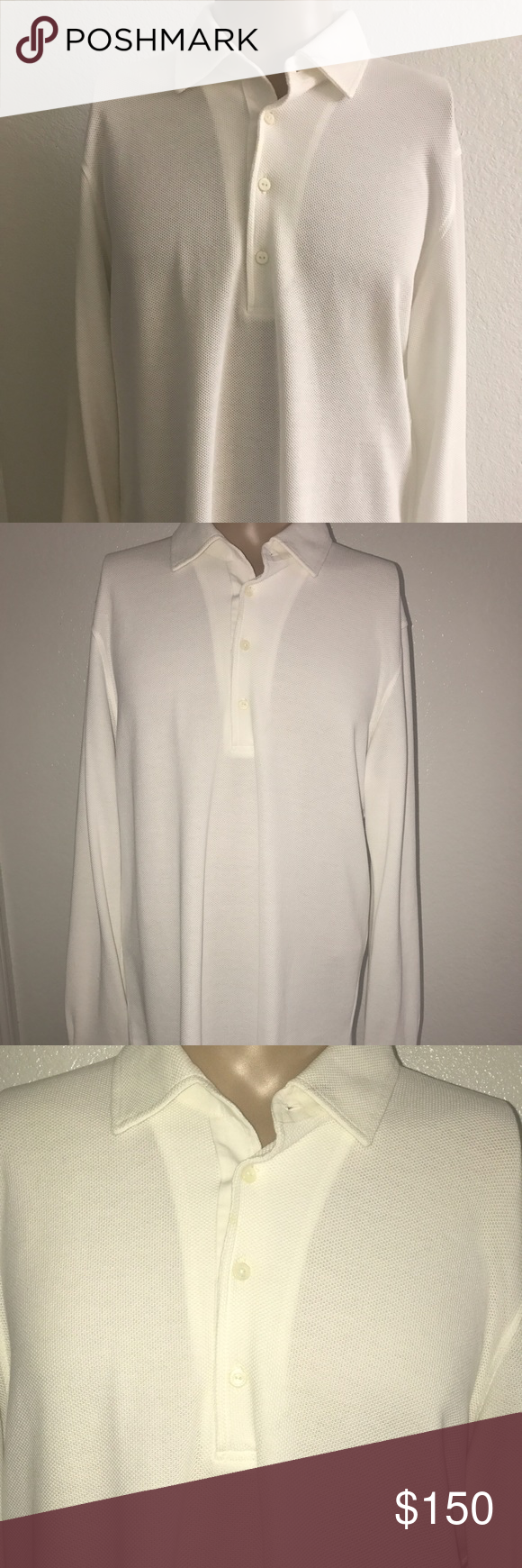 Men's shirt Men's large 100 percent cotton shirt in excellent condition. Loro Piana Shirts Tees - Long Sleeve