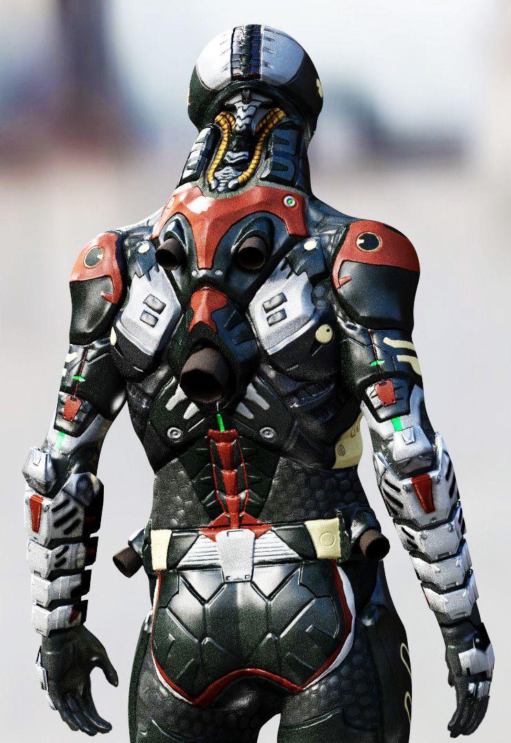Sci Fi Body Armor Concept Art