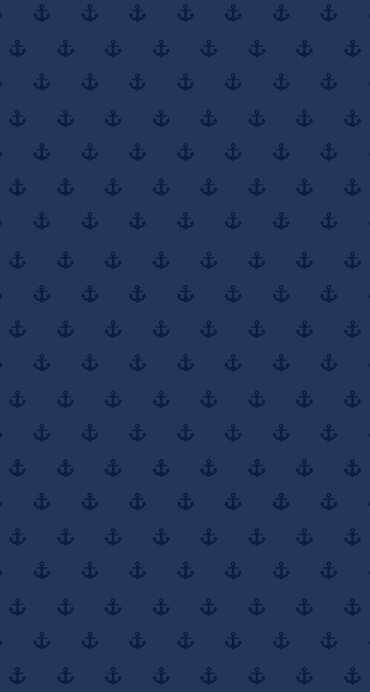 Navy Blue Mini Ditsy Anchors Iphone Wallpaper Background Phone Lock Screen Wallpaper Ponsel Orang Ponsel