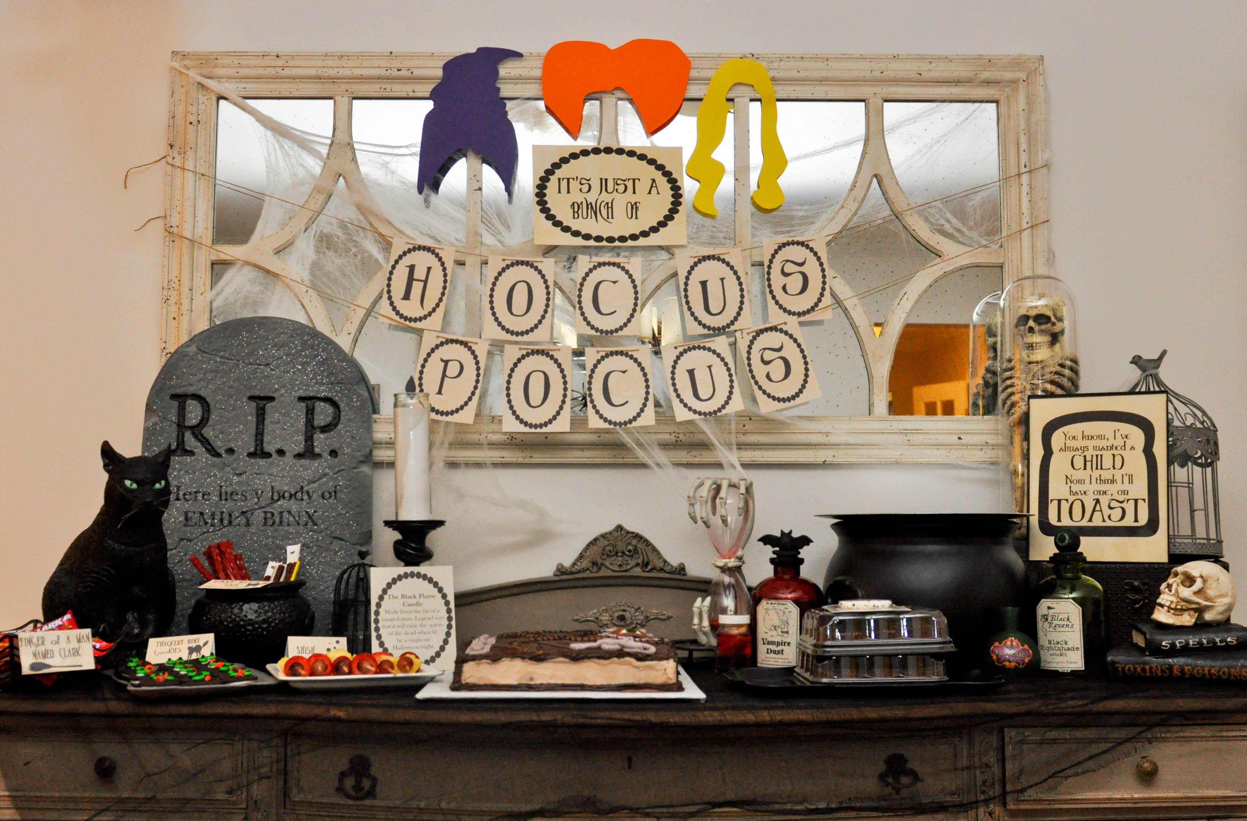 Hocus Pocus Halloween Party Hocus Pocus Dessert Table