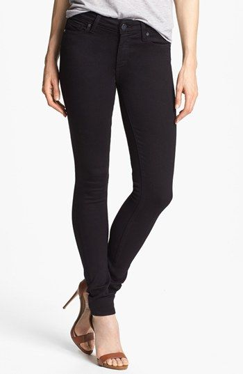 Paige Denim 'Verdugo' Mid Rise Ultra Skinny Jeans (Black Dahlia) available at #Nordstrom