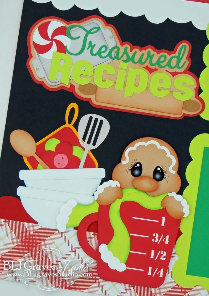 CraftEcafe Premade Scrapbook Pages Paper Piecing Christmas Cookies BLJgraves 2