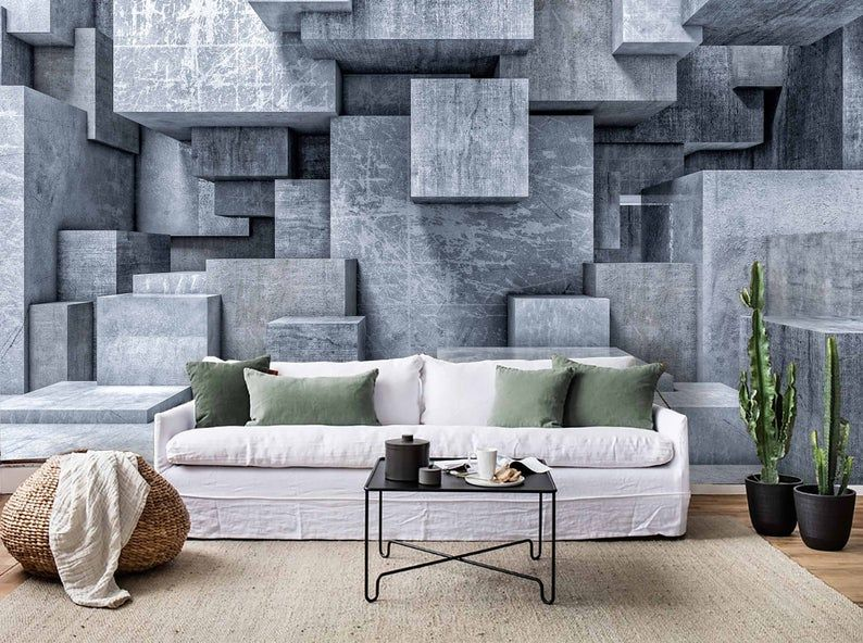 3d Stone Abstract Space Wallpaper Removable Self Adhesive Wallpaper Wall Mural Vintage Art Peel And Stick Wall Murals Mural Wallpaper Stacked Stone