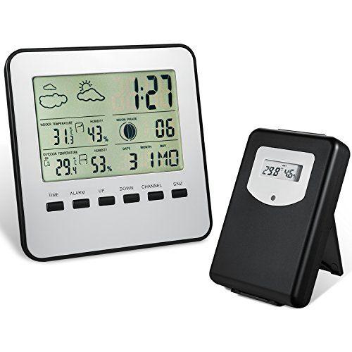 Wireless Weather Station, Amir® Indoor/Outdoor Wireless Digital Home ...