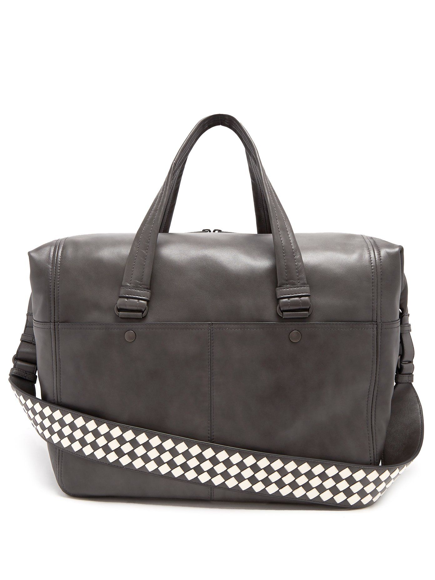Bottega Veneta Intrecciato-strap leather holdall  8acf22f8d7628