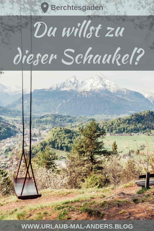 swing romántico en Berchtesgaden + vista panorámica de un Watzmann