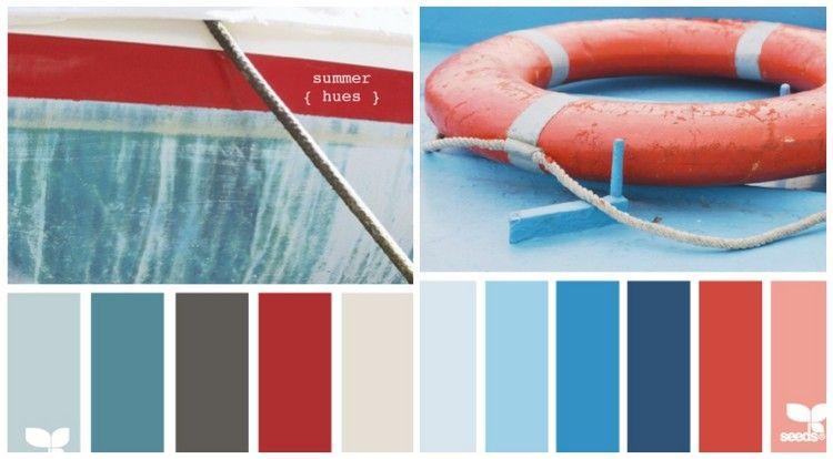 Maritime Farben rot und blau für maritime einrichtung farbpaletten
