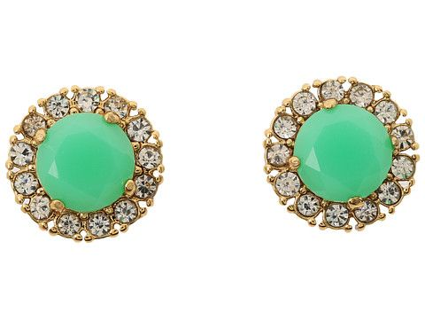 c771c515f31da Kate Spade New York Secret Garden Stud Earrings Bud Green/Clear ...