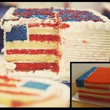 The Hidden American Flag Cake Recipe Recipe American Flag Cake Flag Cake American Flag Cake Recipe