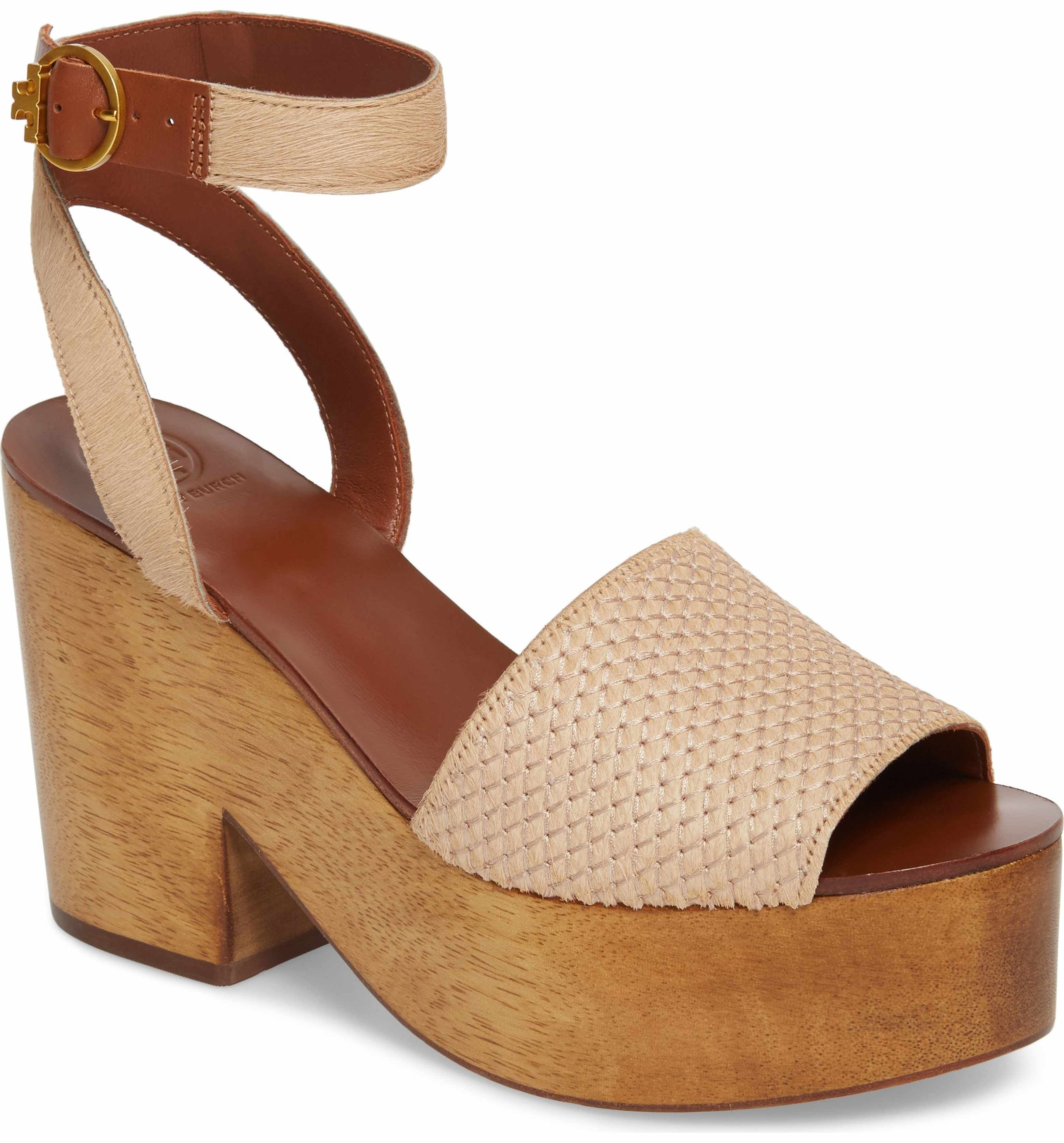 75046226ebf5 Main Image - Tory Burch Camilla Genuine Calf Hair Platform Sandal (Women)