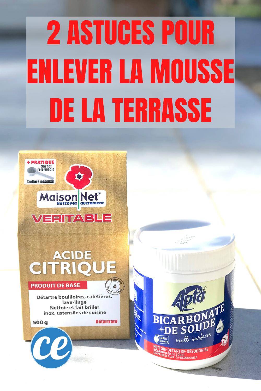 2 Astuces Pour Enlever La Mousse Sur La Terrasse Revelees Par Un Jardinier Nettoyage Terrasse Produits De Nettoyage Naturels Recette Produit Menager