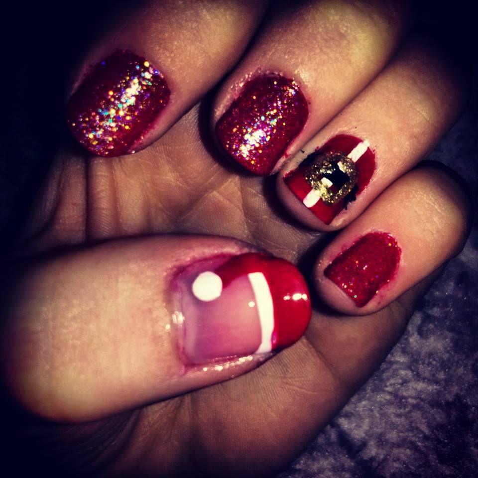 Christmas nails / Santa nails.