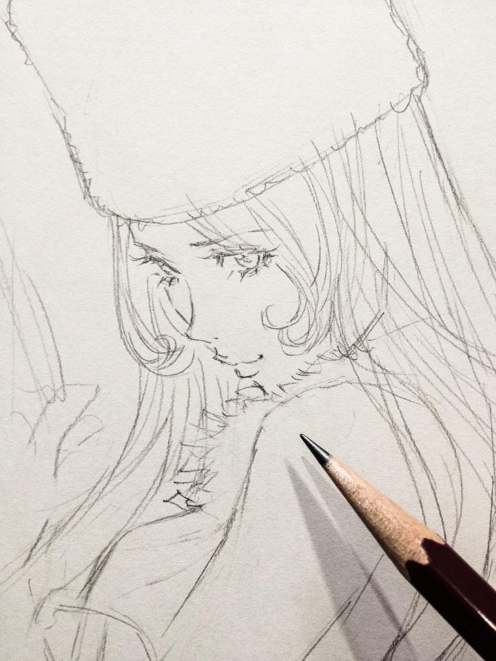 窪之内 Eisaku 英策 On2019 窪之内英策 Art Drawingspencil