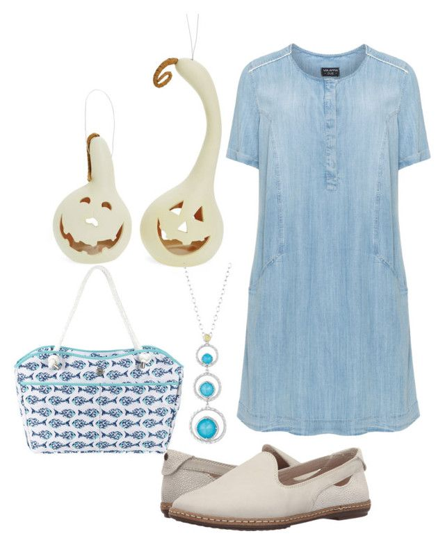 """""""plus size denim dress"""" by aleger-1 on Polyvore featuring Hush Puppies, Fantastic Craft, Tacori and Fivesse"""