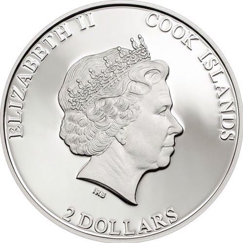 Moeda das Ilhas Cook de 2 Dollars