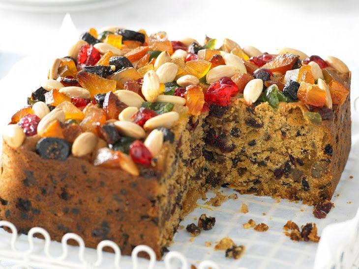 Christmas Fruit Cake Recipe With Brandy.Christmas Fruit Cake