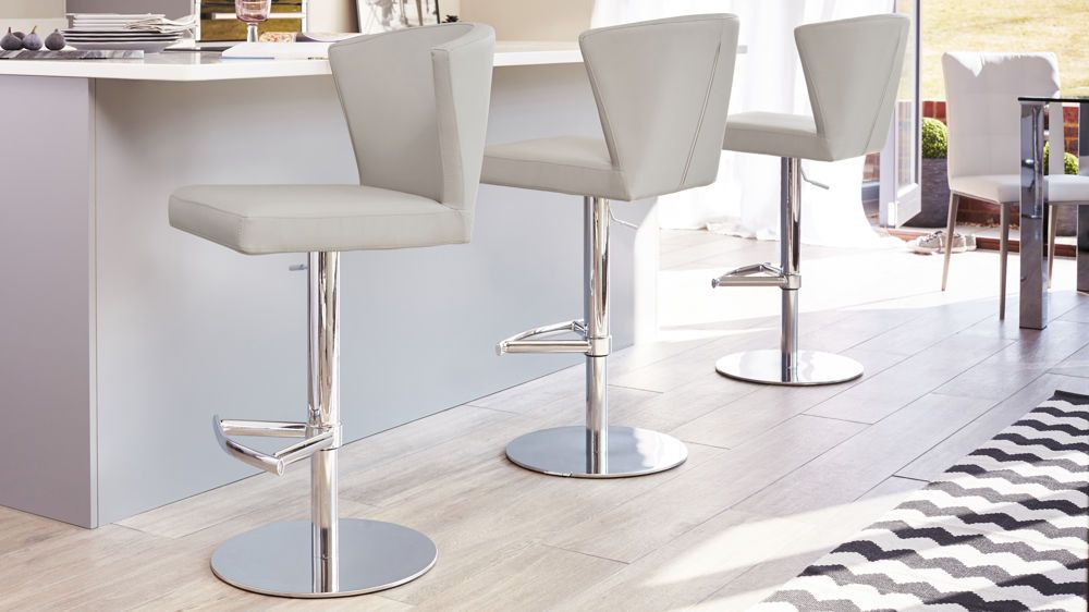 Curva Gas Lift Breakfast Bar Chairs Contemporary Bar Stools Steel Bar Stools Stainless Steel Bar Stools