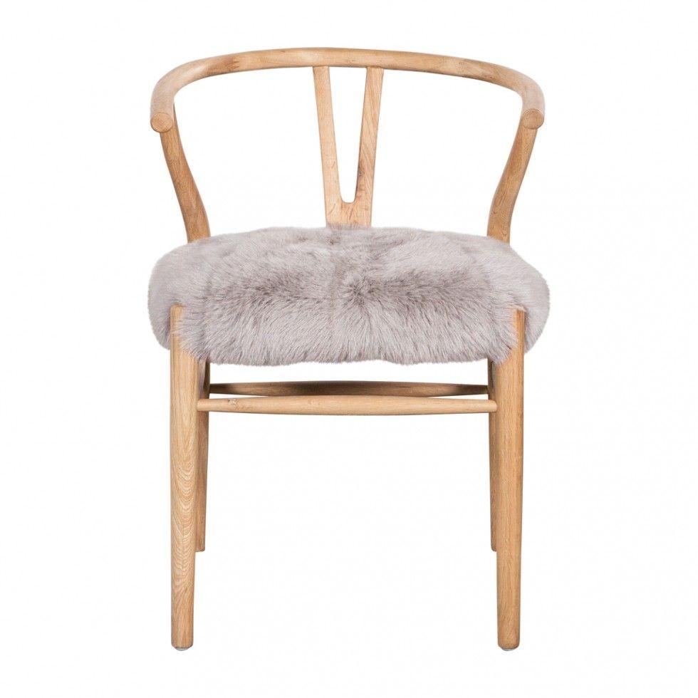CRANE CHAIR FUR SEAT GREY   New Arrivals   HD Buttercup Online U2013 No  Ordinary Furniture
