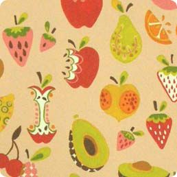 Alexander Henry Very Berry Strawberry Cocoa Fabric BHY