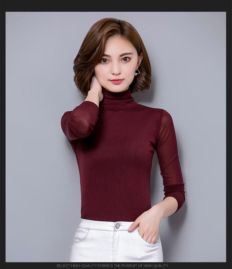 Available in Large Sizes Women Blouses Autumn Sexy Lace Blouse Slim Blusa Feminina Tops Fashion Chemise Femme Shirts Plus Size XXXL Autumn