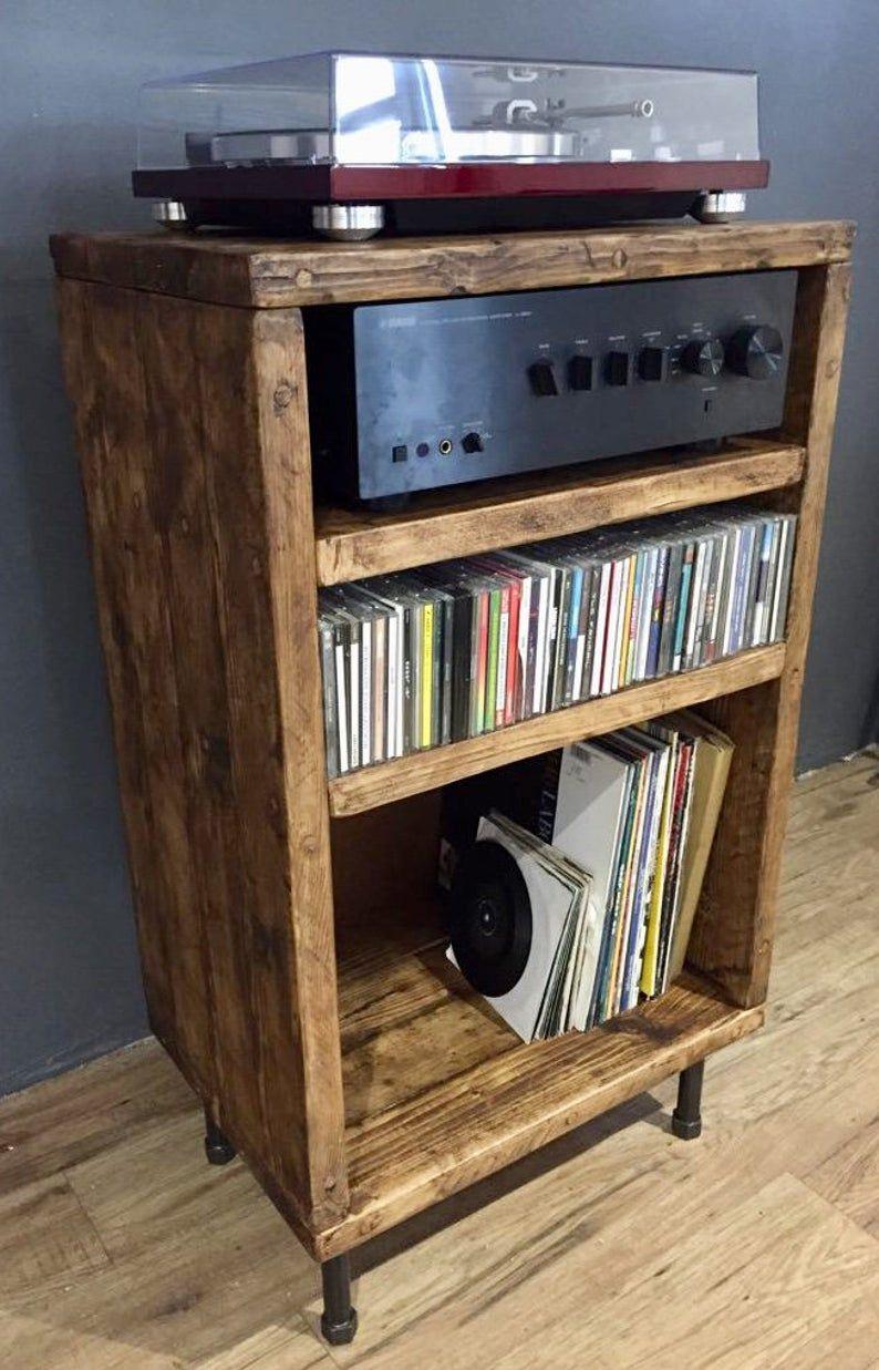 Hi Fi Separates Phono Cabinet Etsy In 2020 Vinyl Record