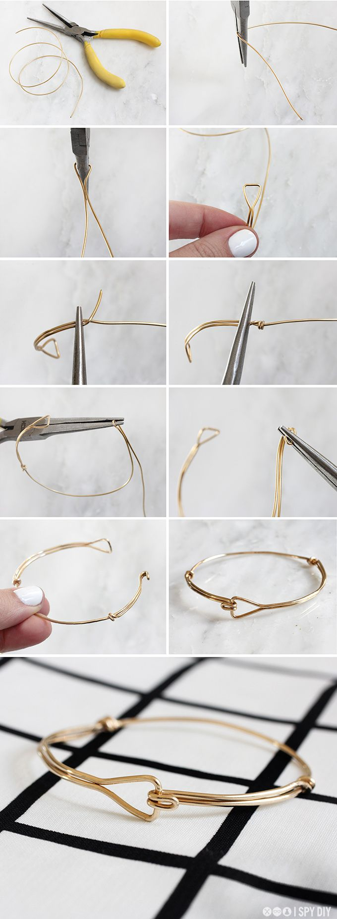 Ispydiy_trianglewirebracelet_steps | Diy | Pinterest | Schmuck ...