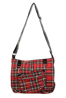 Fashion Womens /& Girl Designer Handbag Shoulder Bag Massenger Bag Tartan RED