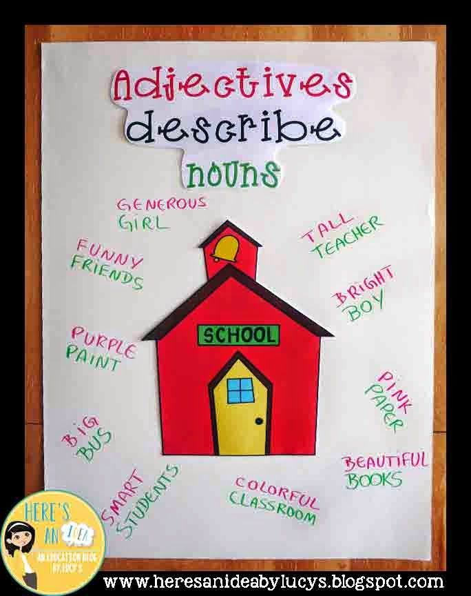 ADJECTIVES Anchor Chart Idea AND an easy way to make your anchor