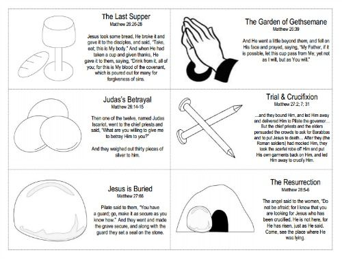 Easter Resurrection Story Cards Free Printable | Easter ...