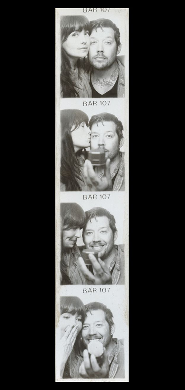 Photo Booth proposal! Her surprise in the last one is so cute
