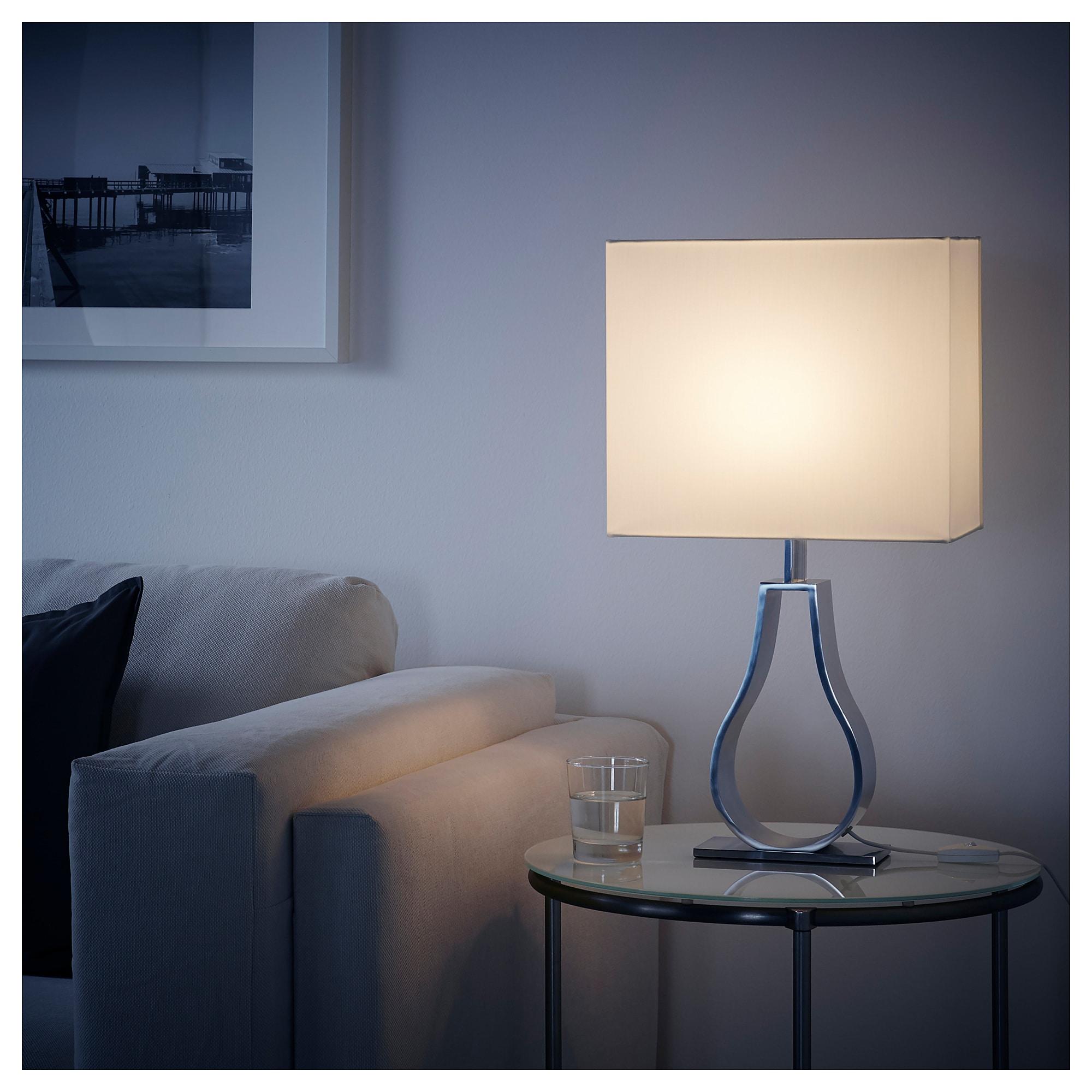 Ikea Klabb Table Lamp Off White Nickel Plated