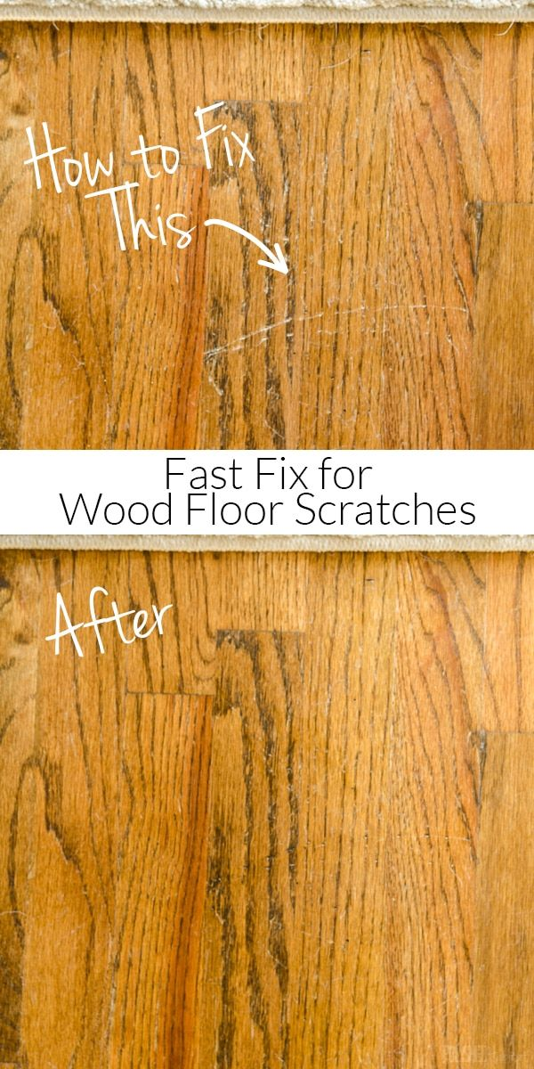 how to repair wood floor scratches {quick fix friday