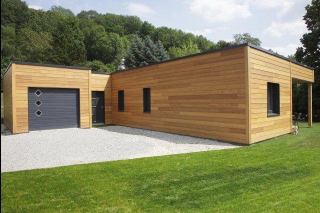 Myotte Duquet architecture bois, reportage construction maisons - plan de maison de 100m2 plein pied
