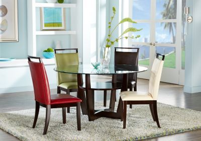 Ciara Espresso 5 Pc Dining Set With Brown Chairs $49999Find Adorable Bargain Dining Room Sets Review