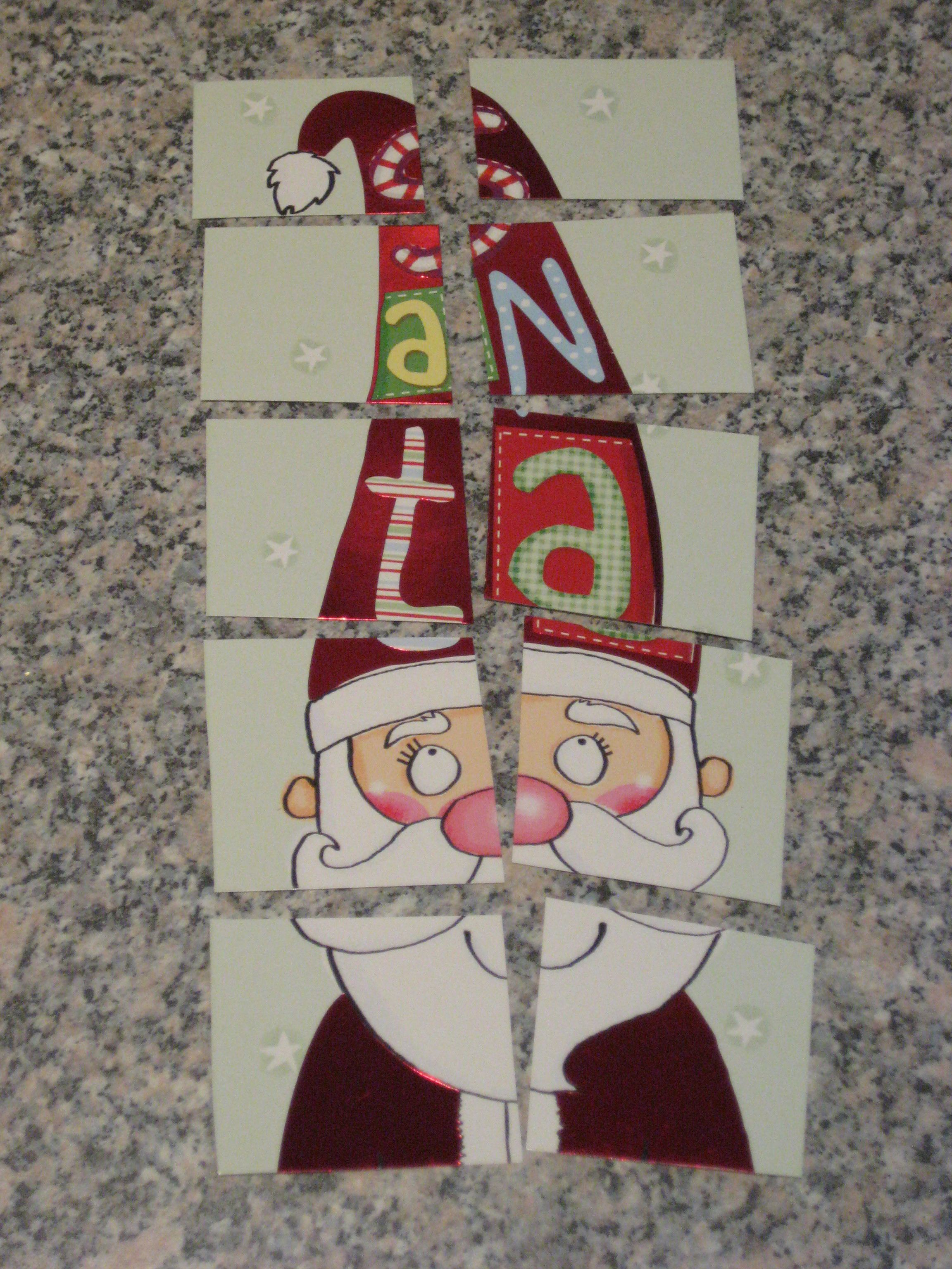 Recycle Your Christmas Cards Make A Jigsaw And A Memory Game