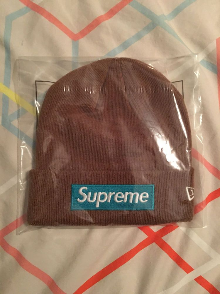 9ce380a73f4 Supreme 2017 New Era Box Logo Beanie BROWN O S Rare Color Brooklyn NYC   fashion  clothing  shoes  accessories  mensaccessories  hats (ebay link)