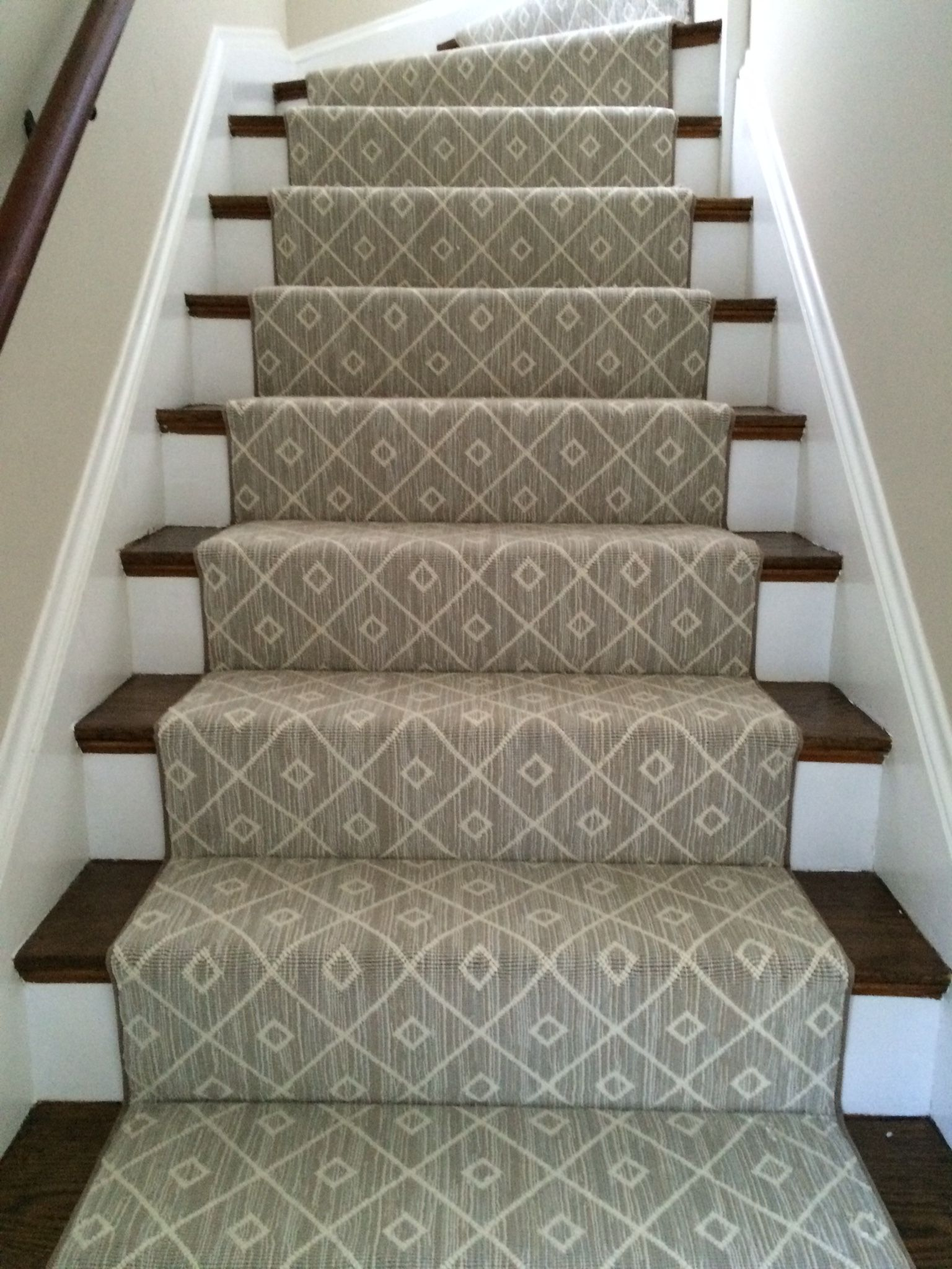Carpet Stair Runner Over Carpet Patterned Stair Carpet