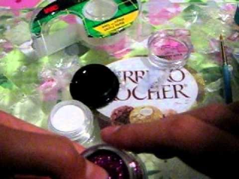 How To Make Fake Acrylic Nails Fake Acrylic Nails Acrylic Nails At Home Glitter Nails Diy