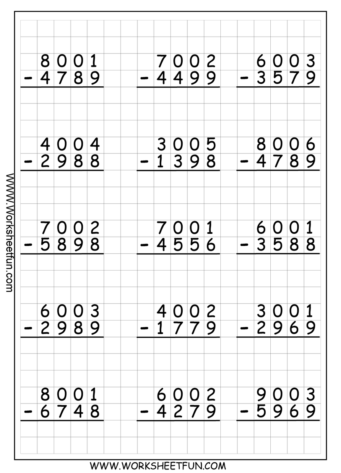 4D+R+Subtraction+WS+5.png 1,154×1,600 pixels | 3rd grade ...