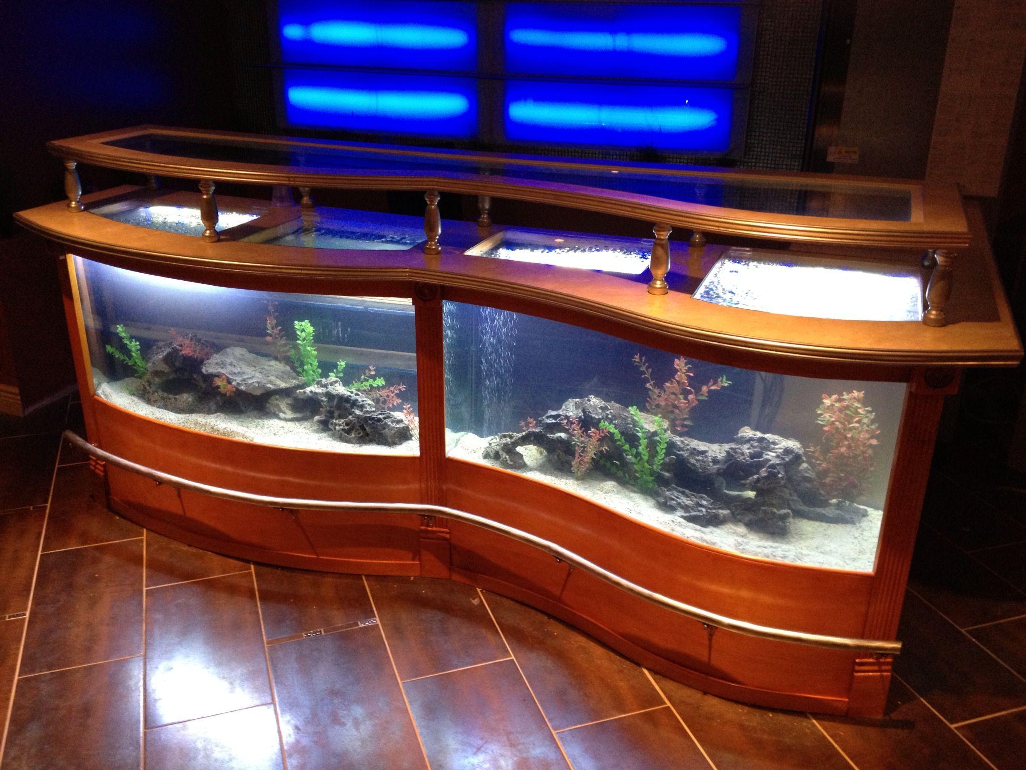 Custom Aqua Bar Aquarium Beautiful Designs In 2019 Aquarium