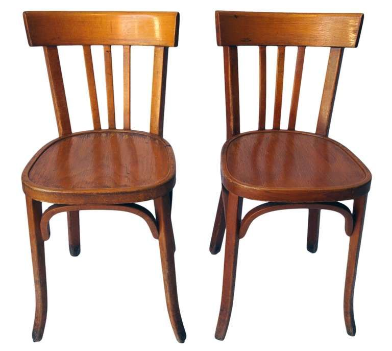 Incroyable View This Item And Discover Similar Chairs For Sale At   Set Of 35 Classic  French Wood Bistro Chairs From Early Century, Designed And Manufactured By  ...