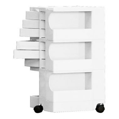 6 Tier Plastic Storage Cart On Wheels   Rolling Cart Organizer For Office