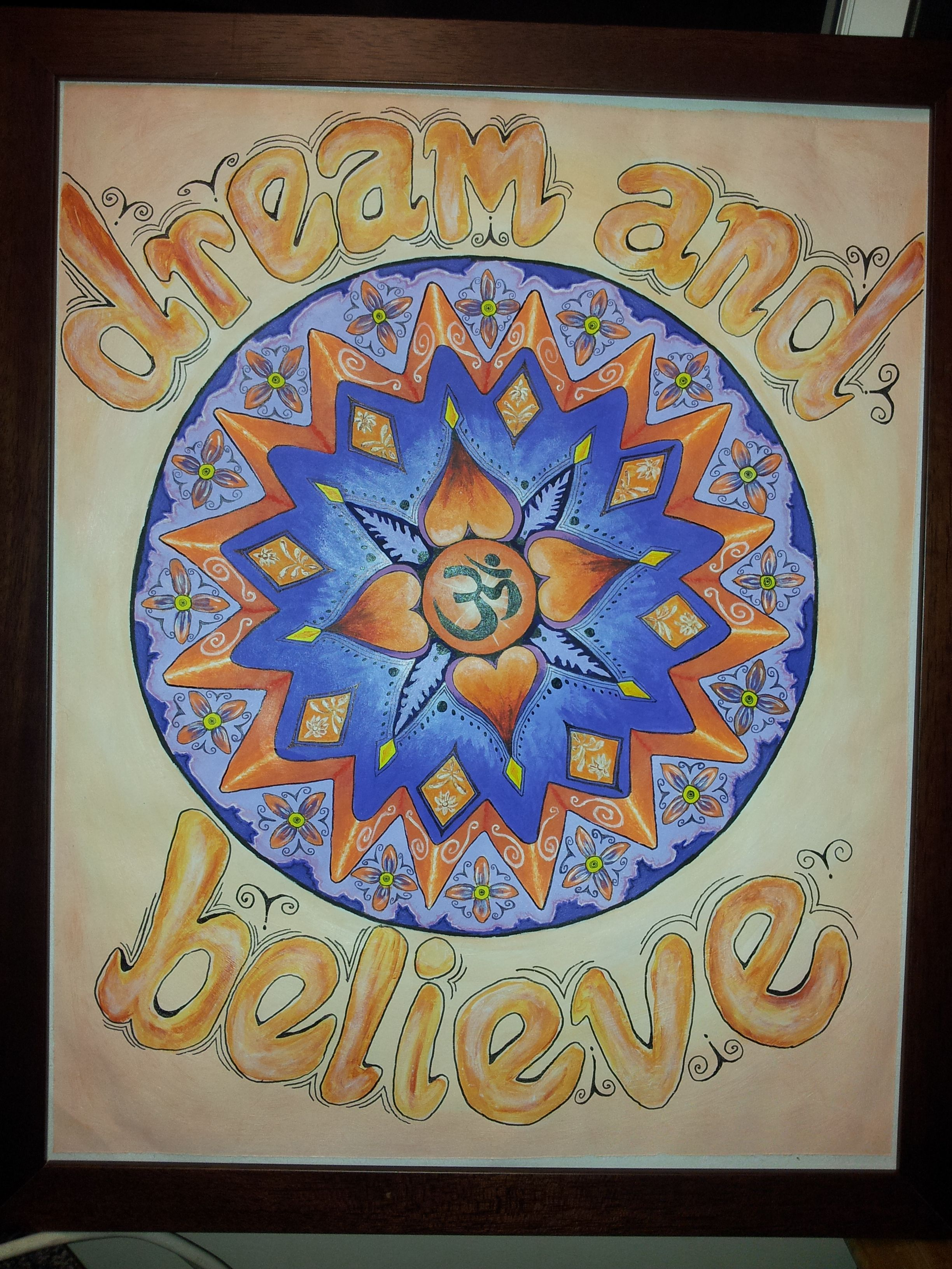 purple and orange mandala i did in 2013, at a time i was needing to have a shift in my goals.. no link