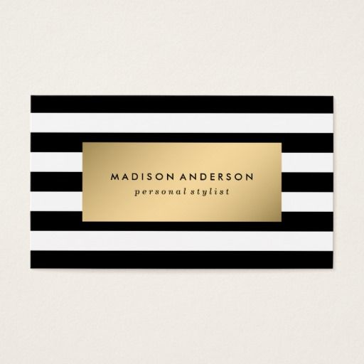 Chic Stripes In Gold Business Cards Zazzle Com In 2021 Striped Business Card Printing Business Cards Business Card Maker