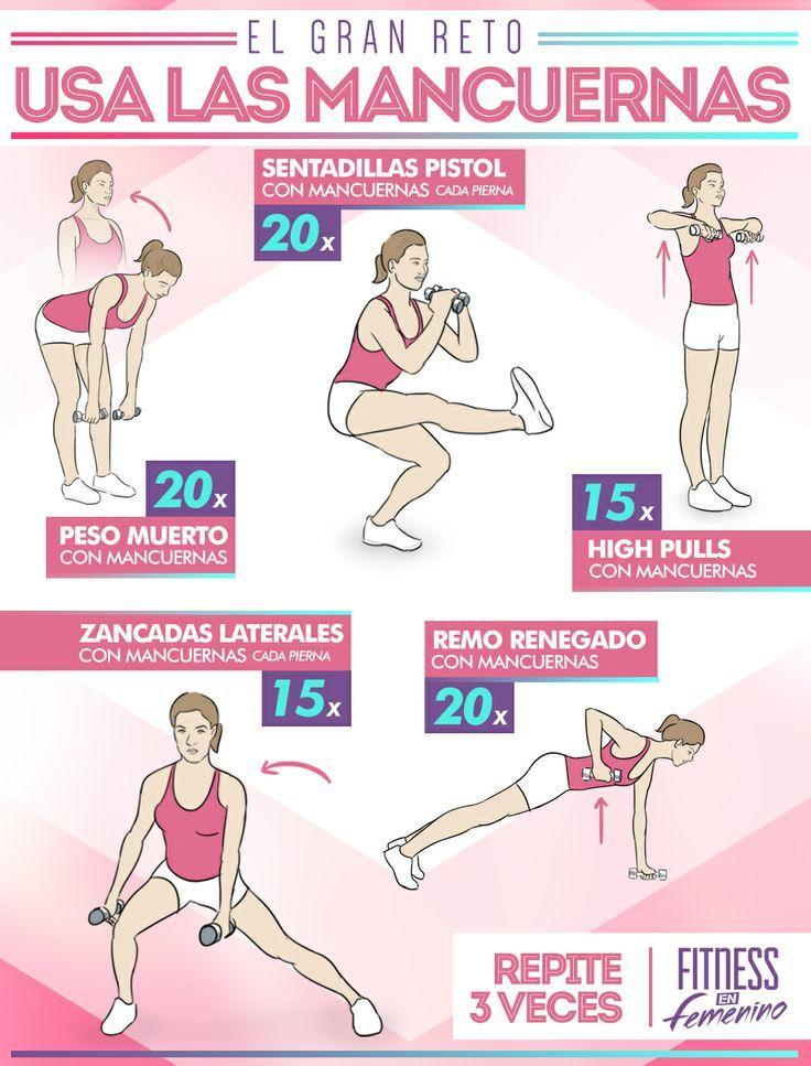 Rutina de ejercicios para adelgazar y tonificar para mujeres