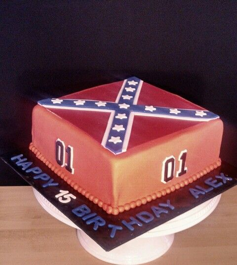 Dukes Of Hazzard General Lee Cake Cake Toppers Pig Cake 40th